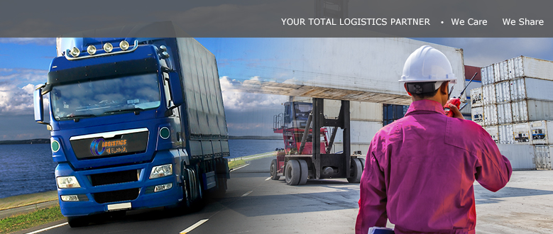 YOUR TOTAL LOGISTICS SERVICE PARTNER /  WE CARE WE SHARE