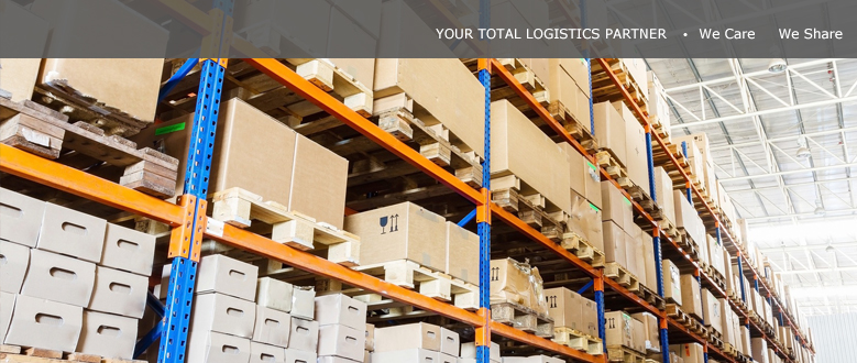 YOUR TOTAL LOGISTICS SERVICE PARTNER / WE CARE WE SHARE 3